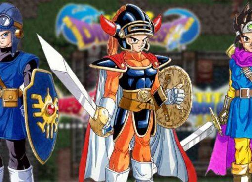 "Imagens dos protagonistas da ""trilogia Erdrick"" de Dragon Quest"