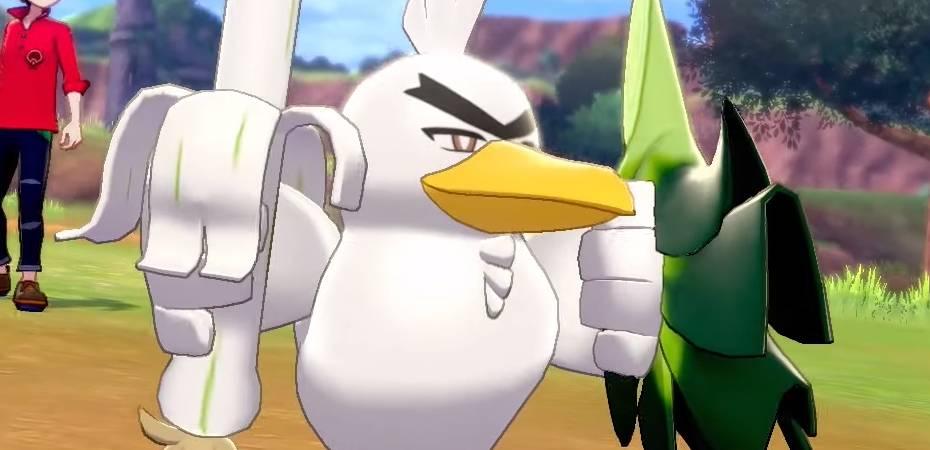 Screenshot de Sirfetch'd em Pokémon Sword
