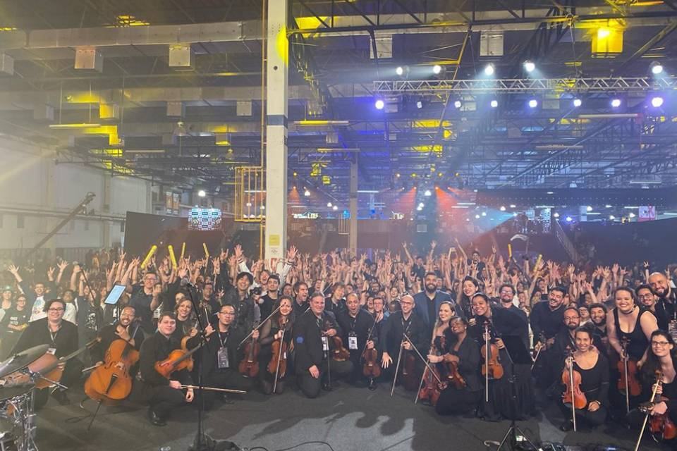 Foto da Video Game Orchestra na Brasil Game Show 2019