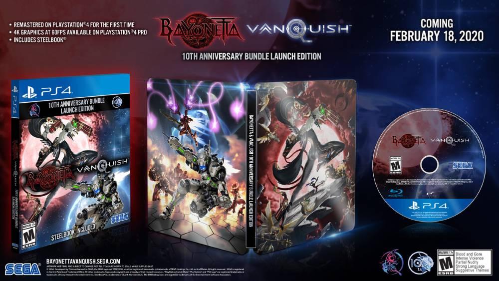 Edição física de lançamento da coletânea Bayonetta & Vanquish 10th Anniversary Bundle
