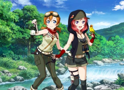 Love Live! Maki e Honoka tropicais