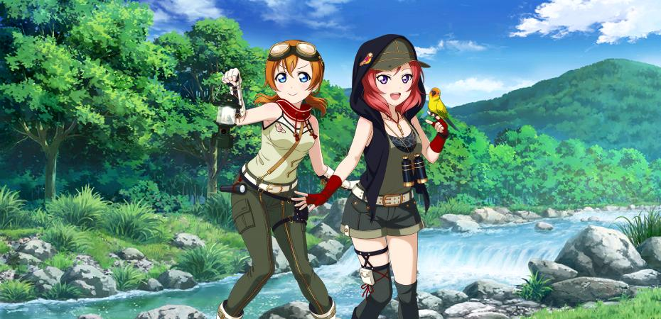 Love Live! Maki e Honoka tropicais