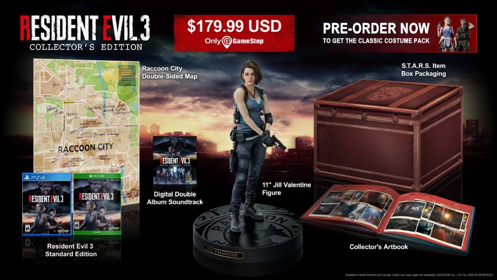 Edição de colecionador de Resident Evil 3