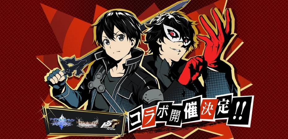 Arte da colaboração entre Persona 5 Royal e Sword Art Online