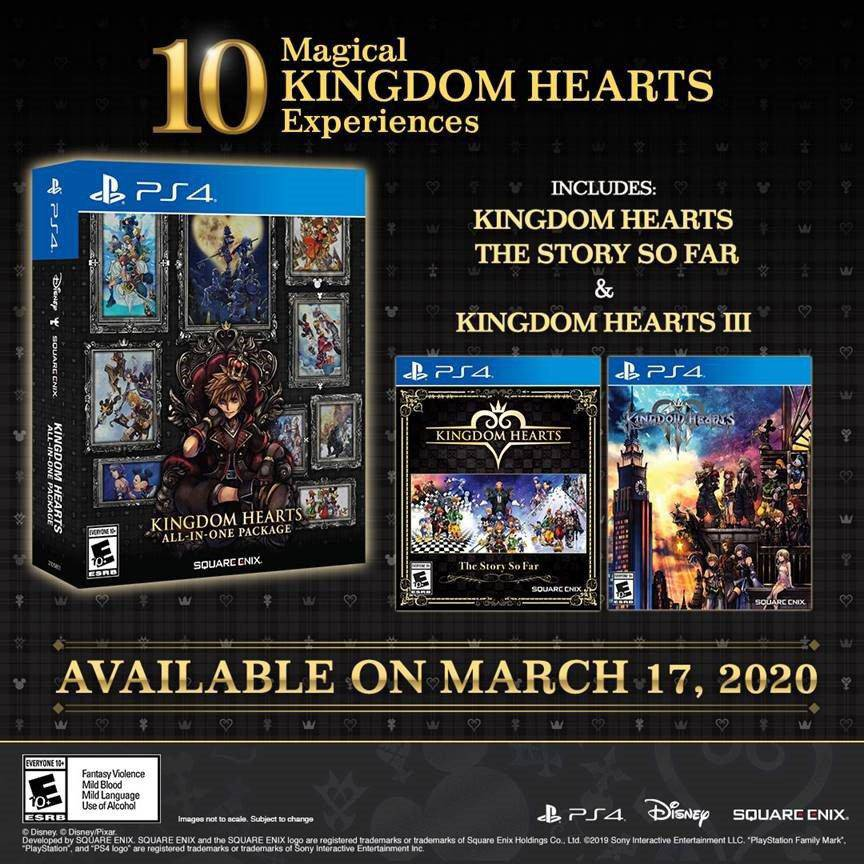 Imagem promocional de Kingdom Hearts All-In-One Package