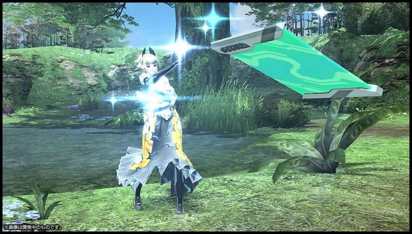 Captura de tela de cutscene de Phantasy Star Online 2