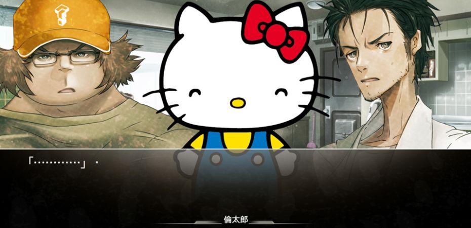 Hello Kitty visita uma das linhas temporais de Steins;Gate