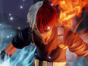 Screenshot de Shoto Todoroki em Jump Force