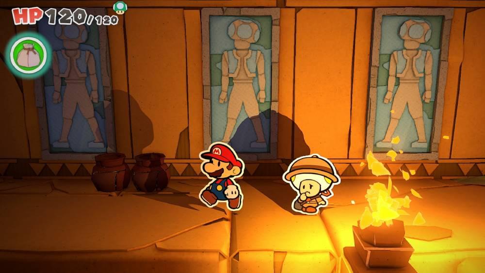 Screenshot de Paper Mario: The Origami King