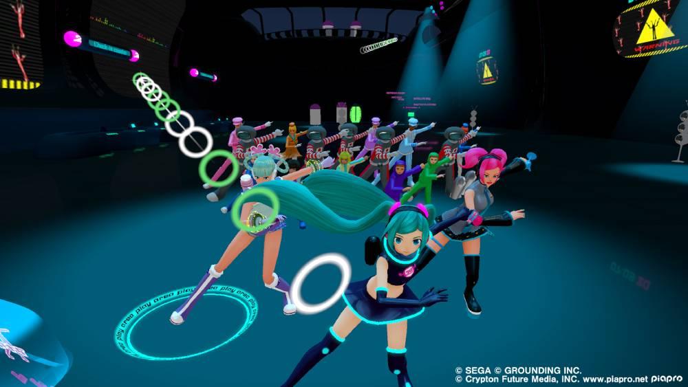 Screenshot de Space Channel 5 VR: Kinda Funky News Flash! com Hatsune Miku