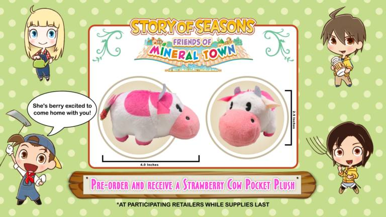 Vaca de pelúcia de Story of Seasons: Friends of Mineral Town