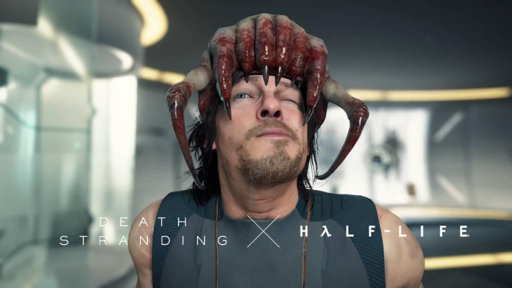 Imagem de crossover entre Death Stranding e Half-Life