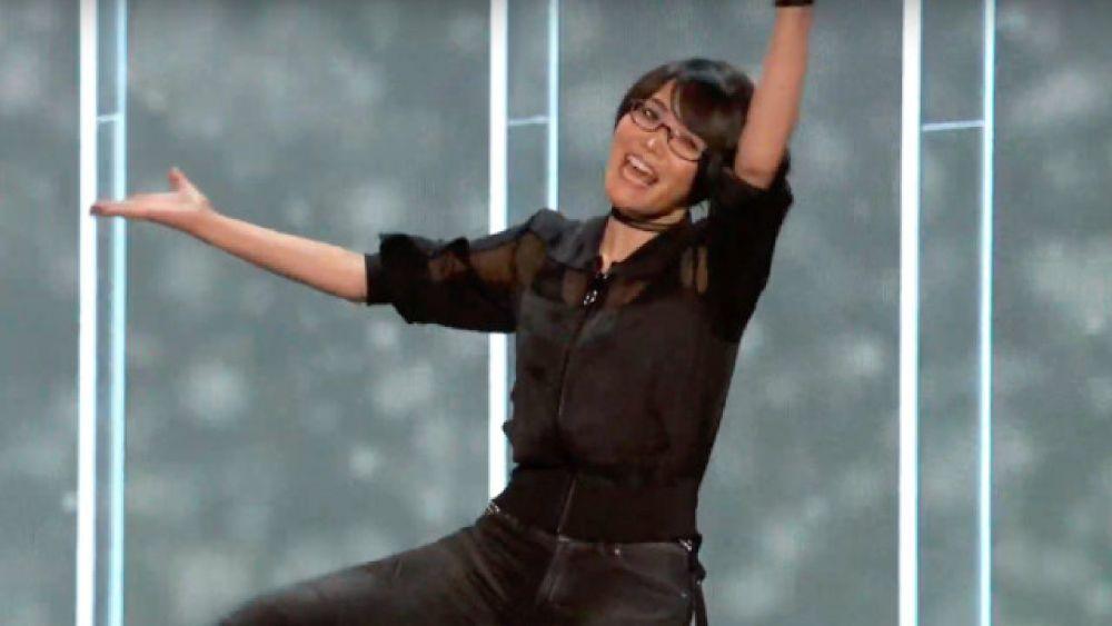 Foto de Ikumi Nakamura durante conferência da E3 2019