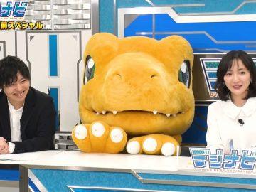 Imagem da transmissão ao vivo Digimon News Navigation