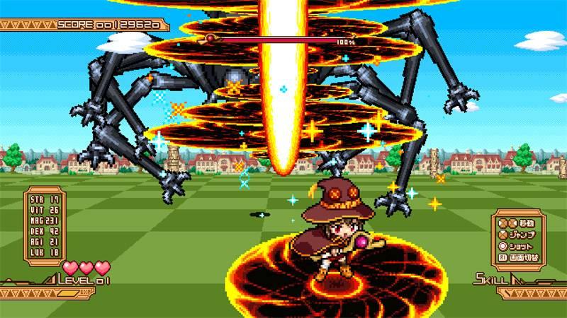 Screenshot do jogo bônus de KonoSuba: Kono Yokubou no Ishouni Chouai o