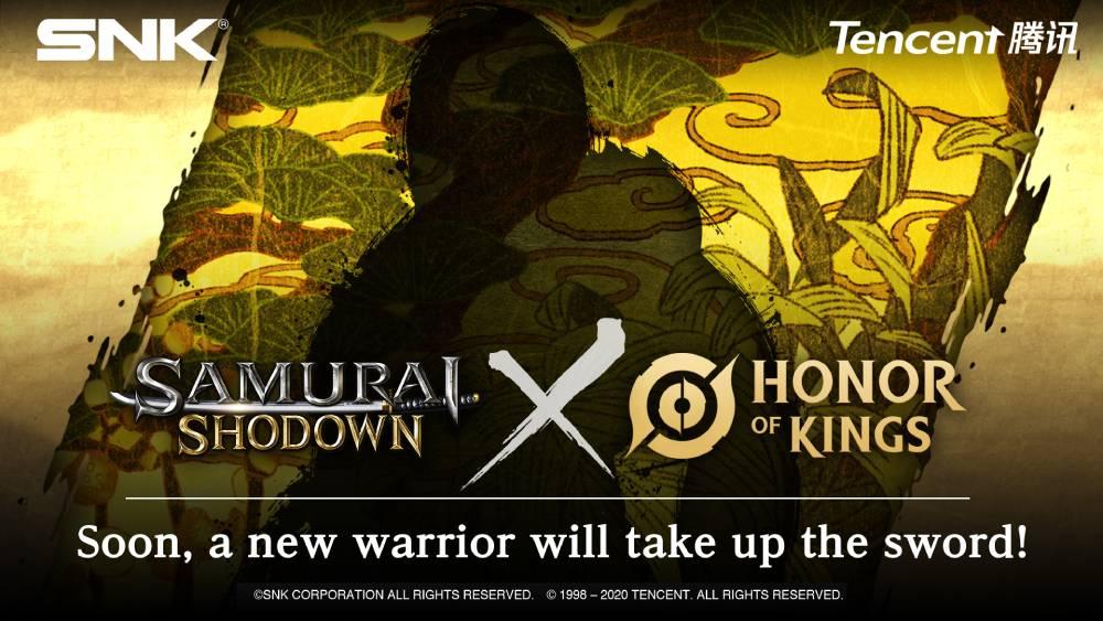 Imagem de colaboração entre Samurai Shodown e Honor of Kings