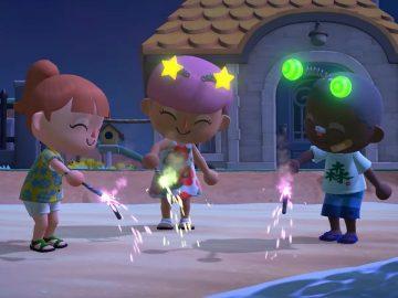Animal Crossing verão fogos