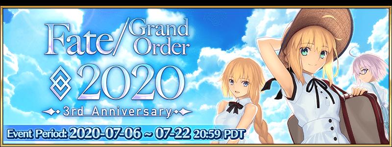 Fate/Grand Order aniversário