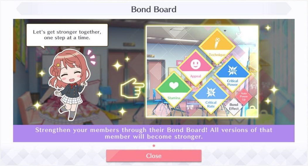 Love Live! All Stars Bond Board