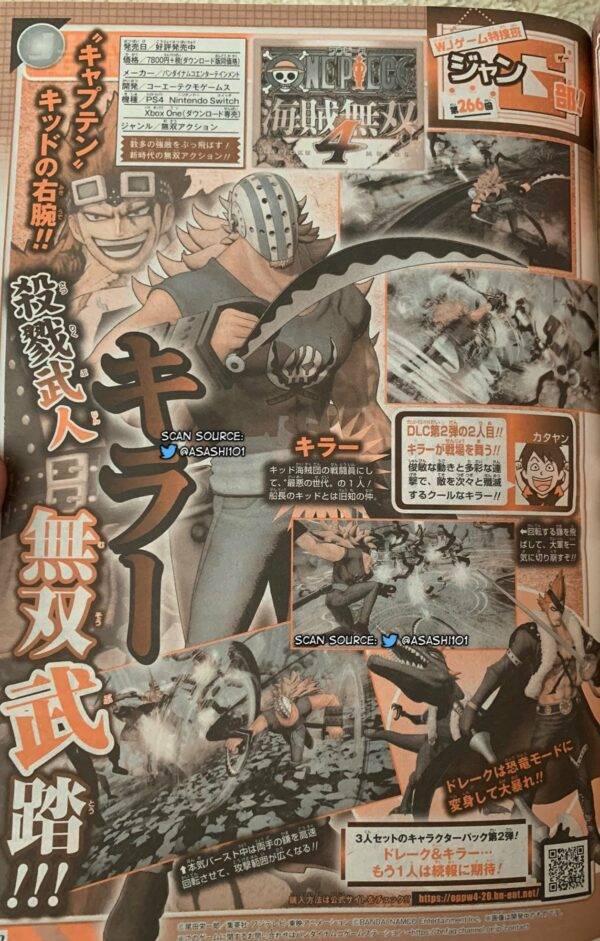 Scan da revista Shonen Jump sobre One Piece: Pirate Warriors 4