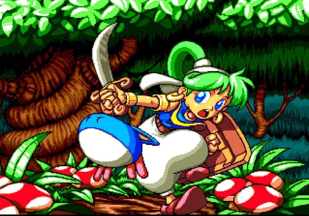 Wonder Boy Asha in Monster World antiga