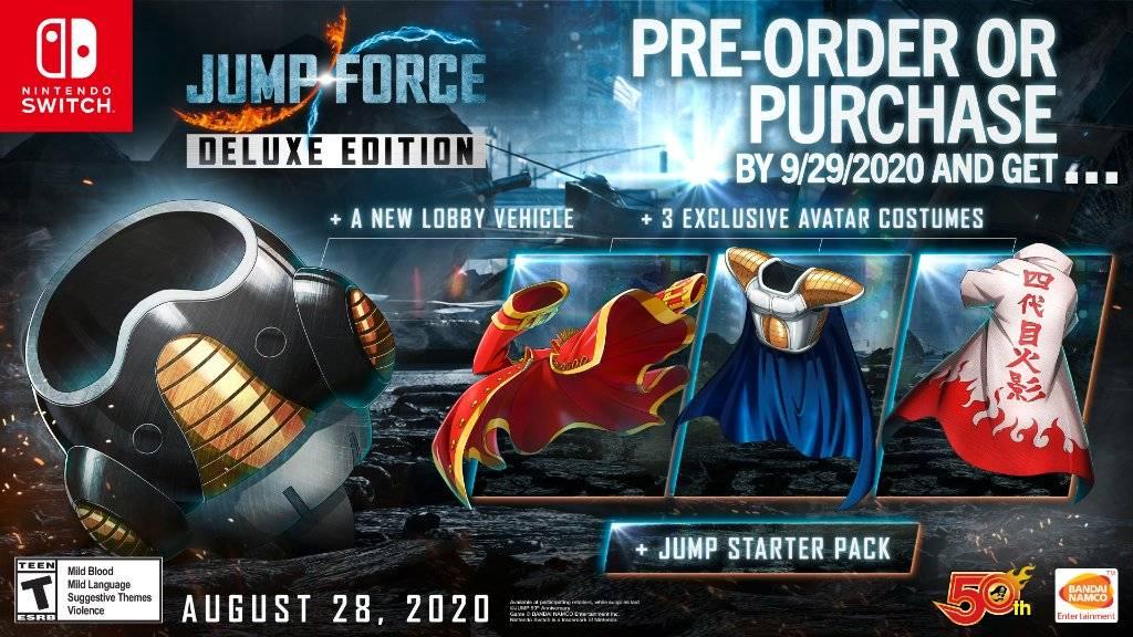 Jump Force bônus Switch