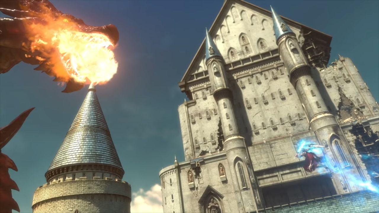 Phantasy Star Online 2 Dragão lutando