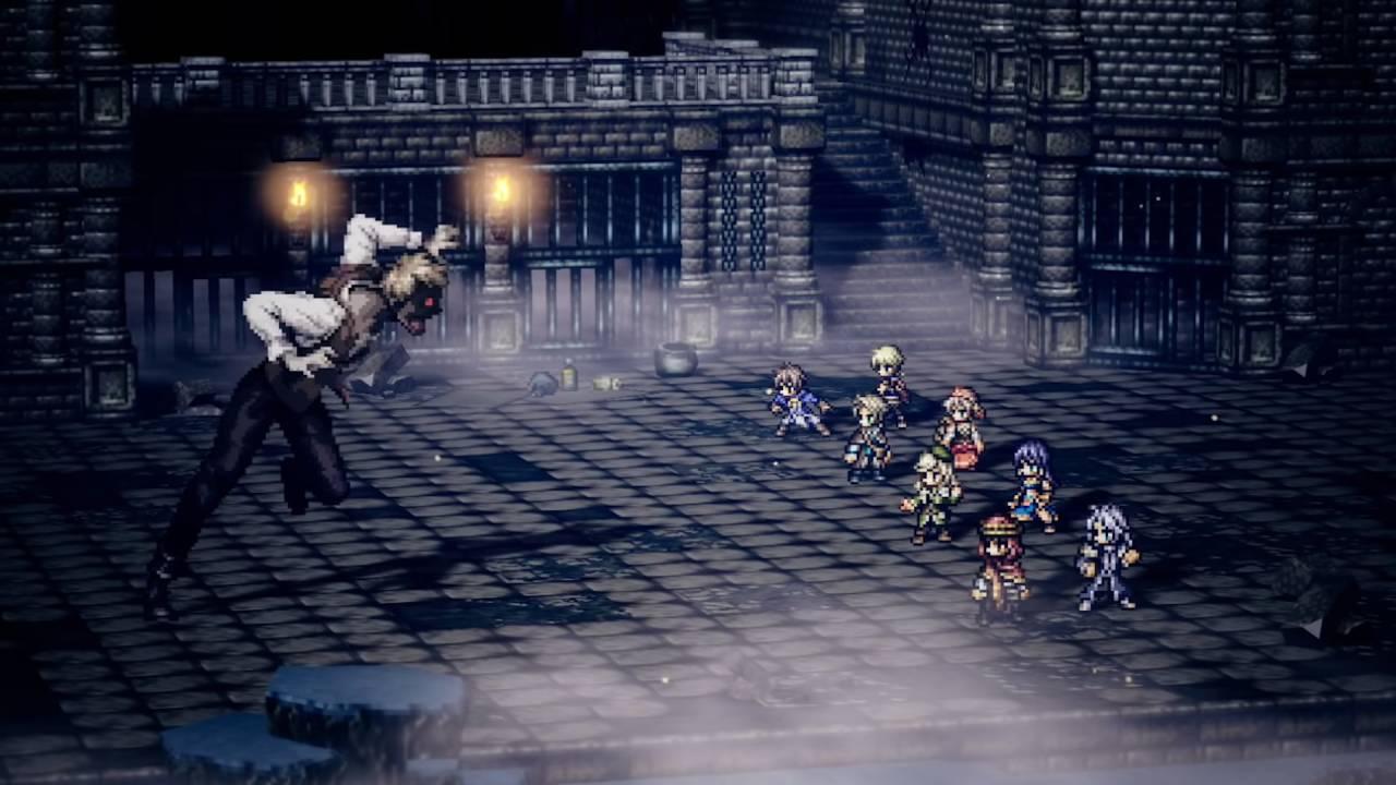 Octopath Traveler Tairiku no Hasha batalha
