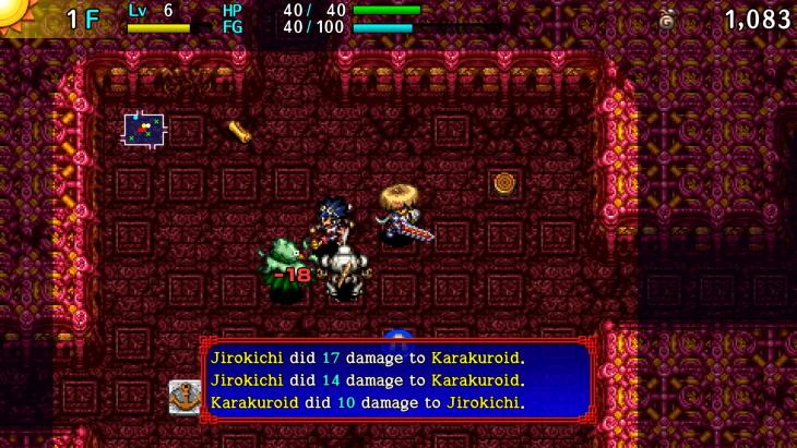 Shiren the Wanderer gameplay
