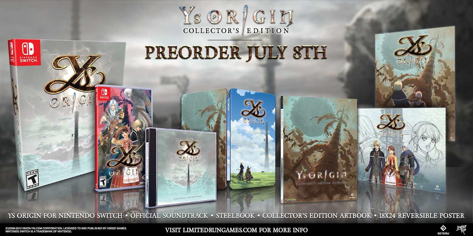 Ys Origin edição especial