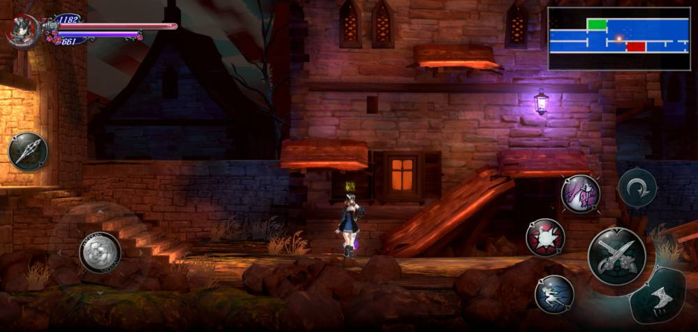 Captura de tela da conversão de Bloodstained: Ritual of the Night para dispositivos móveis