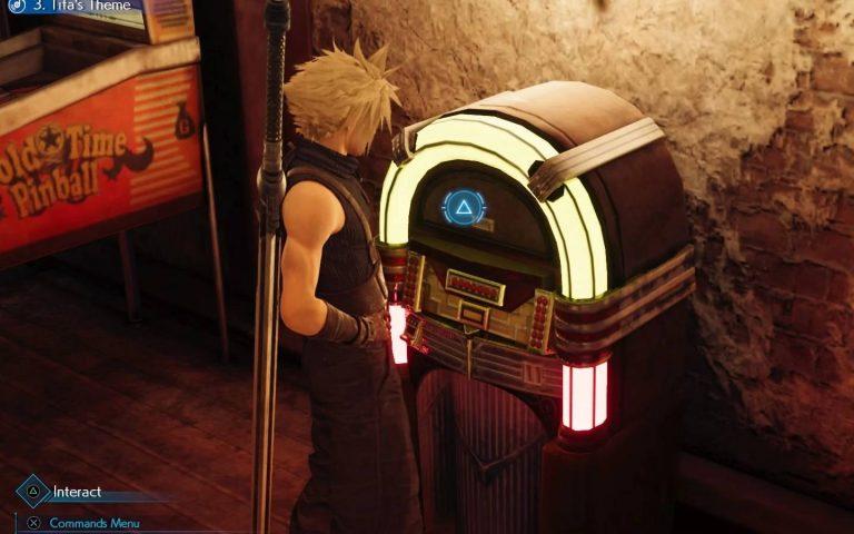 Screenshot de Final Fantasy VII Remake, um dos jogos cujo a trilha sonora está disponível via Mora Qualitas