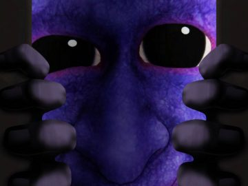 Arte de Ao Oni em Death end re;Quest 2