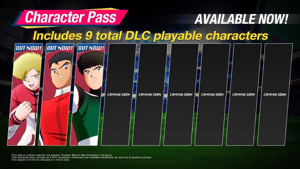Passe de personagens de Captain Tsubasa: Rise of New Champions