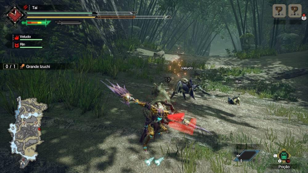 Screenshot da demo de Monster Hunter Rise