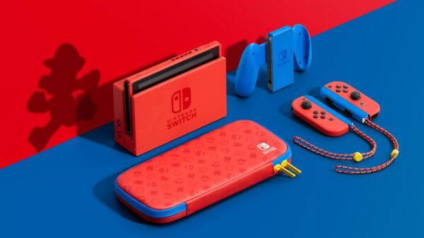 Modelo de Nintendo Switch inspirado por Mario