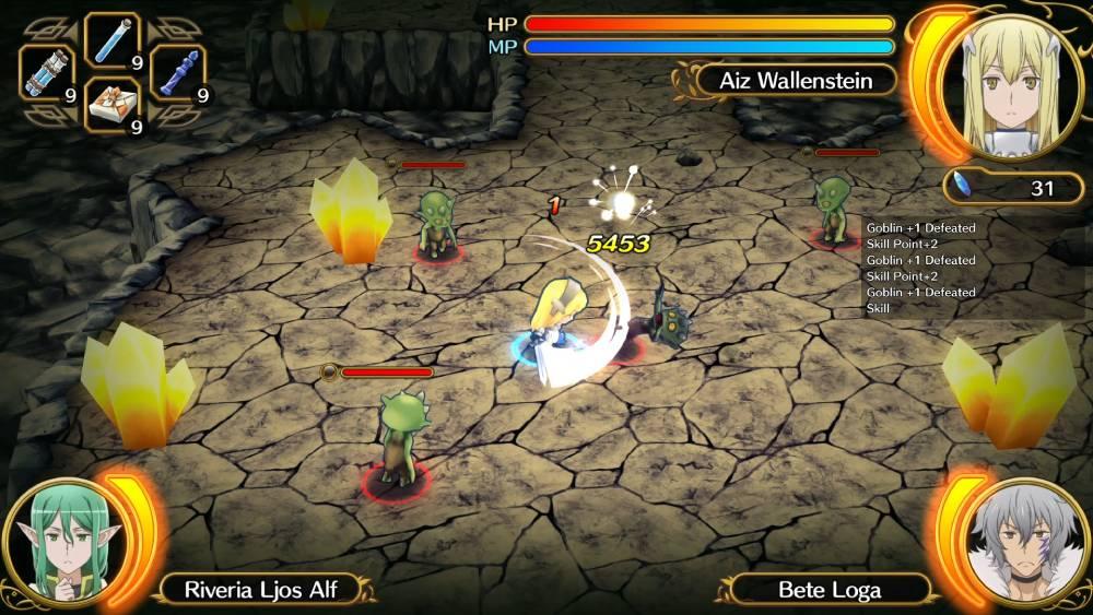 Screenshot de DanMachi Infinite Combate