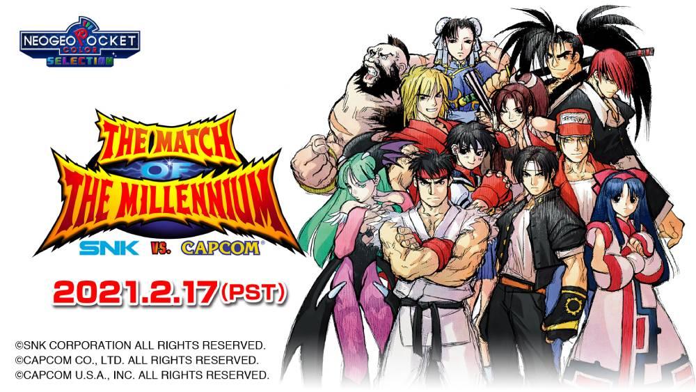 Arte promocional da versão Neo Geo Pocket Selection de SNK vs. Capcom: The Match of the Millennium