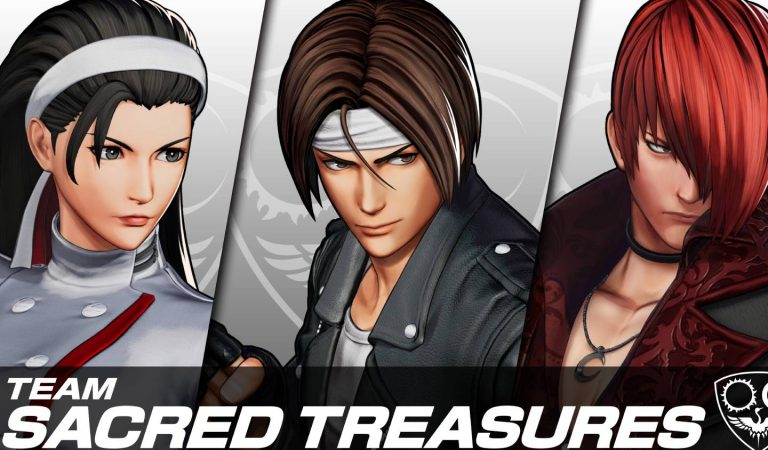 "King of Fighters XV introduz o time dos ""Tesouros Sagrados"""
