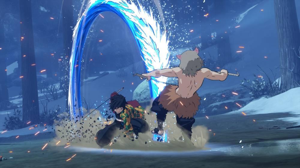 Screenshot de Giyu Tomioka em Demon Slayer: Kimetsu no Yaiba - Hinokami Keppuutan