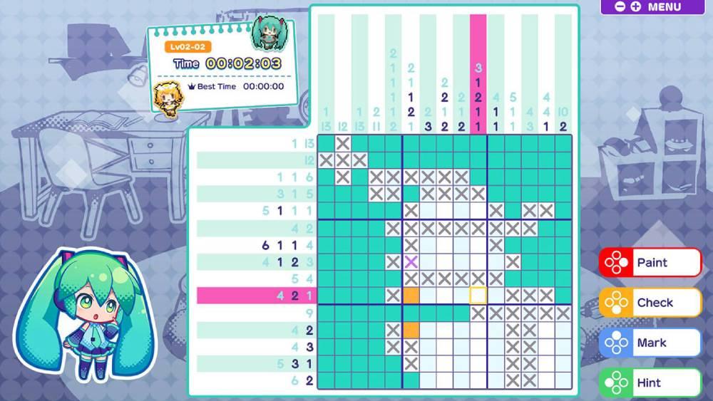 Screenshot de Hatsune Miku Logic Paint S