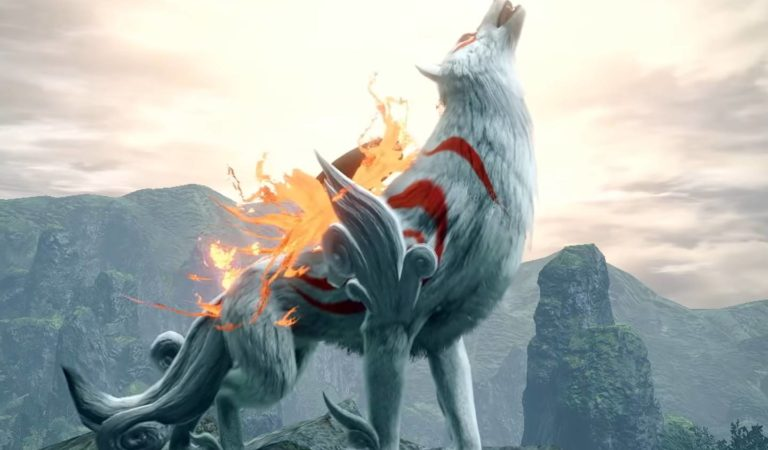 Amaterasu, a deusa de Okami, aparecerá em Monster Hunter Rise