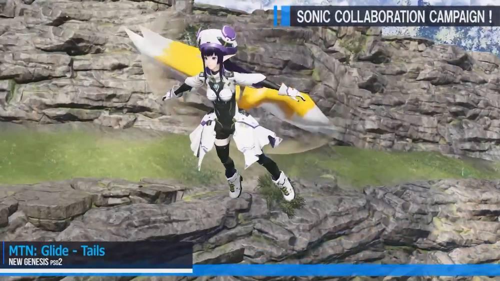 Captura de tela de transmissão ao vivo dedicada a Phantasy Star Online 2: New Genesis