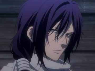 Captura de tela do OVA de Hakuoki