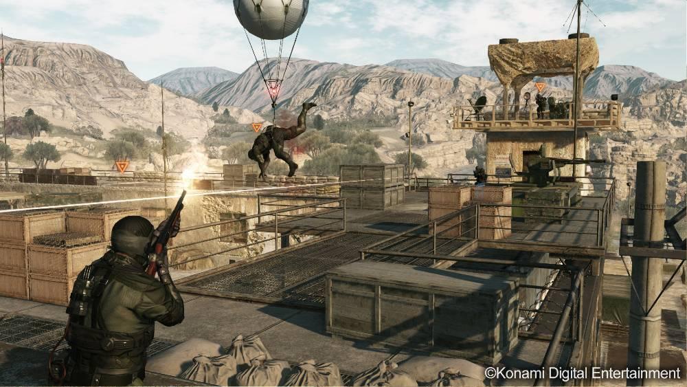 Screenshot do modo Metal Gear Online de Metal Gear Solid V: The Phantom Pain