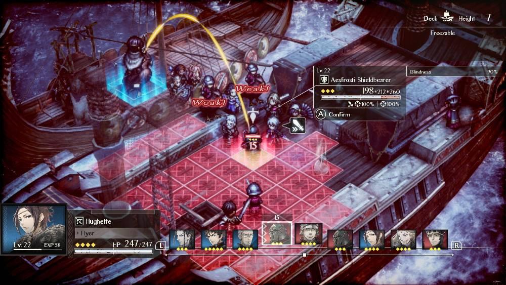 Screenshot de Triangle Strategy